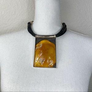 Mariusz Gliwinski rare modernist amber necklace